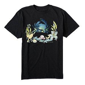 camiseta masculina signo Câncer