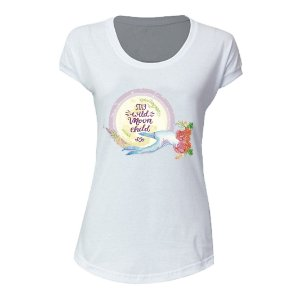 camiseta feminina extra moon child
