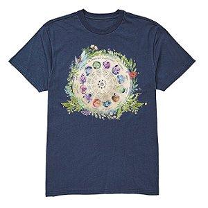 camiseta masculina mandala zodiaco
