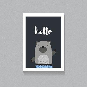 Quadro Hello Urso