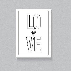Quadro Love PB