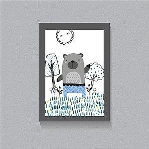 Quadro Na floresta com o Urso