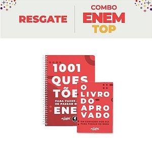 TOP - KIT LIVROS COMBO ENEM:  O Livro do aprovado + 1.001 Questões para fazer antes de passar no ENEM