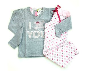 02f777d57 Pijama Infantil Puket Rosa Bala