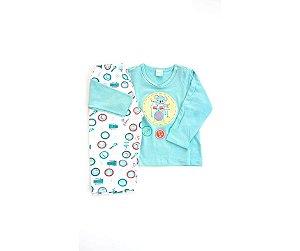 7f0912040 Pijama Infantil Composê Masculino Baby Bateria