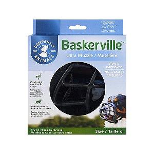 Focinheira Baskerville Preta XXG - Tamanho 6