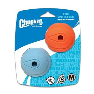 Bola Chuckit The Whistler M - Pack com 2