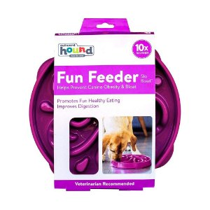 Comedouro Lento Outward Hound Fun Feeder Roxo G