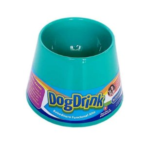 Bebedouro Elevado Pet Games Dog Drink Verde