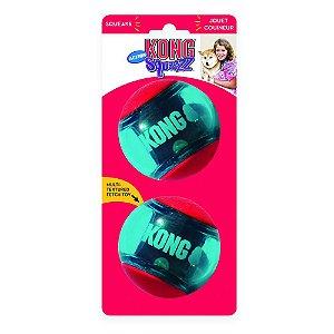 Bola Kong Squeezz Action Vermelha G - Pack com 2