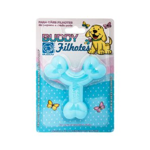 Mordedor Buddy Toys Ossinho Azul Filhotes