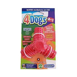 Mordedor Pet Games 4 Dogs Nylon Vermelho P
