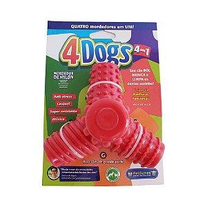 Mordedor Pet Games 4 Dogs Nylon Vermelho G