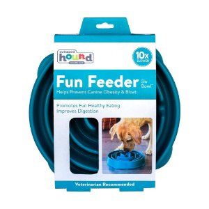Comedouro Lento Outward Hound Fun Feeder Verde G