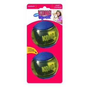 Bola Kong Squeezz Action Azul G - Pack com 2