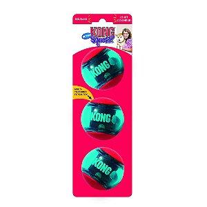 Bola Kong Squeezz Action Vermelha M - Pack com 3