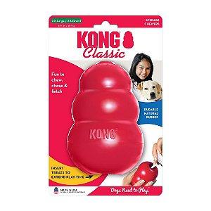 Brinquedo Durável Recheável p/ Cachorro Kong Classic GGG
