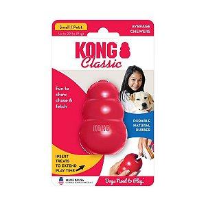 Brinquedo Interativo Recheável p/ Cachorro Kong Classic P