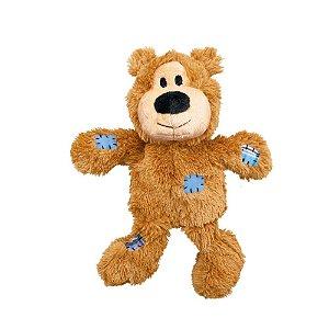 Brinquedo Kong Wild Knots Bear Caramelo P/M