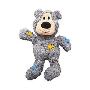 Brinquedo Kong Wild Knots Bear Cinza P/M