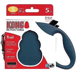 Guia Retrátil Kong Trail P Azul p/ Cães até 20kg 5m