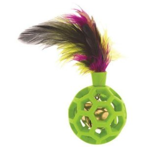 Bolinha p/ Gato JW Cataction Feather Ball