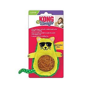 Pelúcia Interativa p/ Gatos Kong Wrangler AvoCATo c/ Catnip