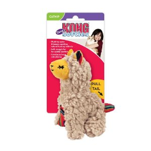 Pelúcia p/ Gatos Kong Cat Softies Buzzy Llama c/ Catnip