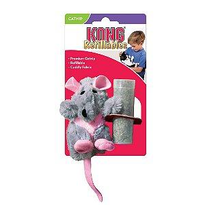 Pelúcia p/ Gatos Kong Cat Refillable Rat c/ Catnip