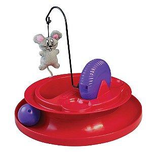 Brinquedo Interativo Recheável p/ Gatos Kong Cat Playground