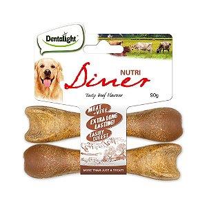 Mordedor Natural p/ Cães Dentalight Nutri Diner Carne 90g