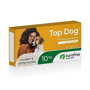 Vermífugo Top Dog para cães de até 10 Kg - 4 Comprimidos