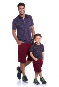Camiseta Polo Tradicional Piquet Estampado - REF: 3815