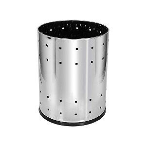 Lixeira Inox 22 Litros Telada - Referência B9