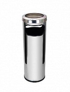 Lixeira Inox c/ Cinzeiro 30 Litros - Referência C18A