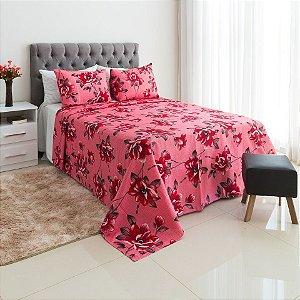 8d733e13f5 Colcha King + 2 Porta Travesseiros Rose – Santa Bonita