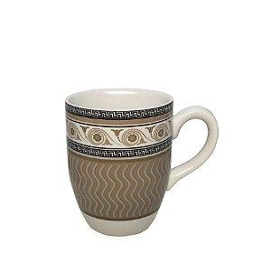 Caneca Em Porcelana Greek (350ml) - Bege