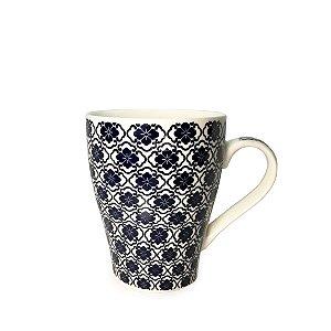 Caneca em Porcelana Trevo (350ml) - Azul