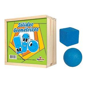 Sólidos Geométricos Madeira 11 peças - Ciabrink