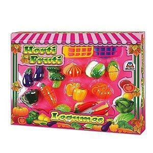 Legumes em Plástico com Velcro Horti Fruti Legumes - Braskit