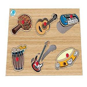 Quebra-Cabeça com Pinos Instrumentos Musicais - Simque
