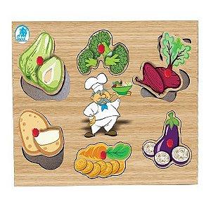 Quebra-Cabeça com Pinos Legumes - Simque