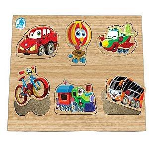 Quebra-cabeça com Pinos Meios de Transporte - Simque