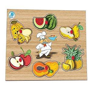 Quebra-cabeça com Pinos Salada de Frutas - Simque