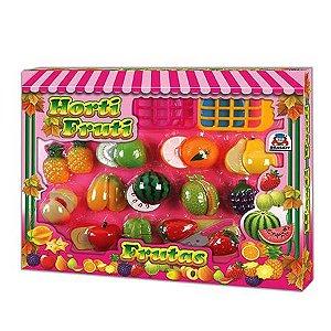 Frutas em Plástico com Velcro Horti Fruti Frutas - Braskit