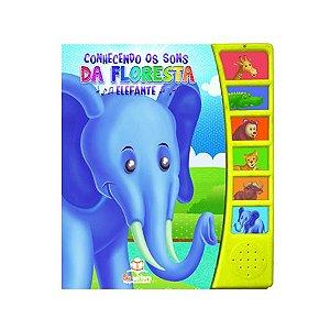 Livro Sonoro Conhecendo Os Sons da Floresta Elefante - Blu Editora