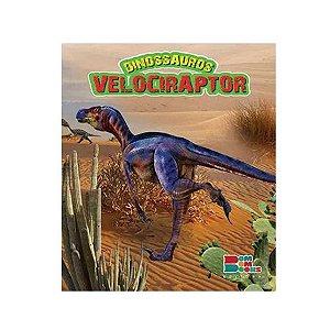 Livro Dinossauros Velociraptor com Miniatura Articulada – Bom Bom Books