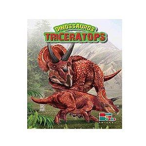Livro Dinossauros Triceratops com Miniatura Articulada - Bom Bom Books