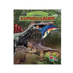 Livro Dinossauros Espinossauro com Miniatura Articulada - Bom Bom Books