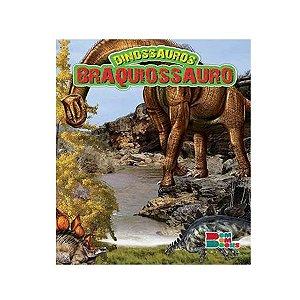 Livro Dinossauros Branquiossauro com Miniatura Articulada - Bom Bom Books
